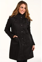 dkny hooded raincoat