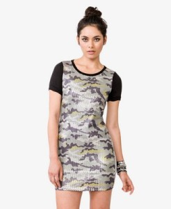 forever 21 sequin camo dress