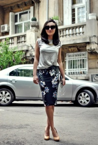 floral pencil skirt inspiration