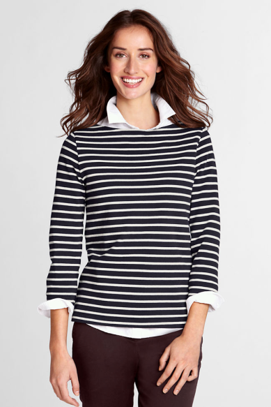 land's end striped tee
