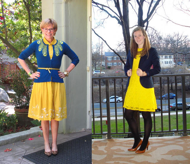outfit post yellow dress