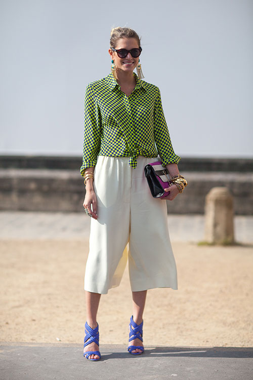 Culottes and Knotted Shirts