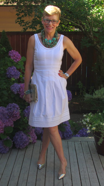 What We Wore: White Dresses - Two Take on Style