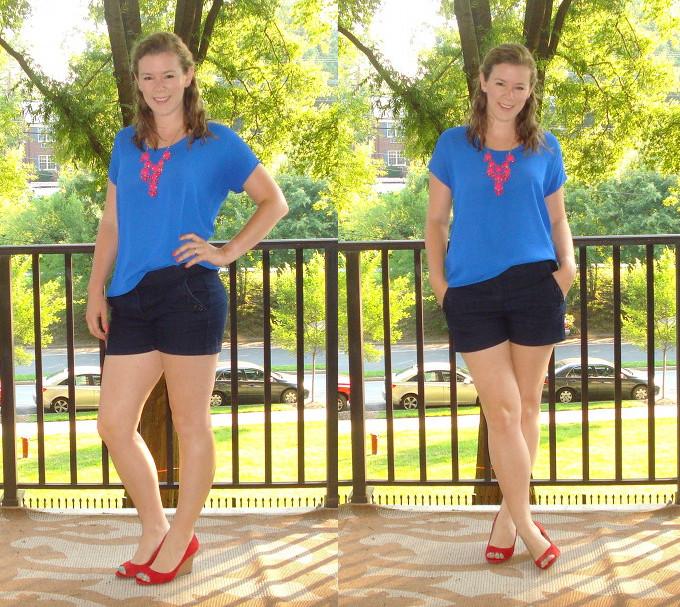 Kate denim shorts collage 2