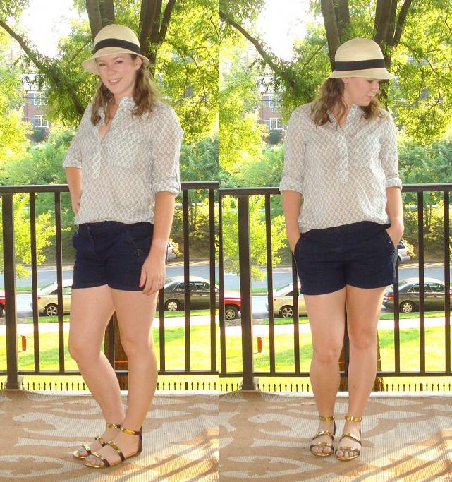 Kate denim shorts collage