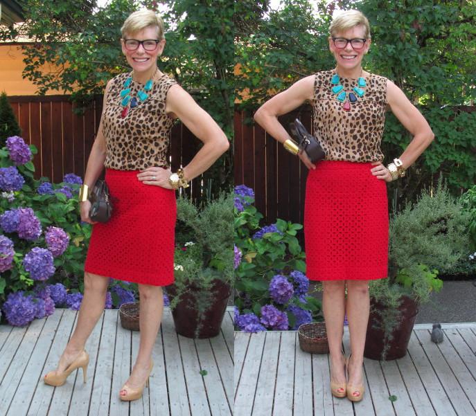 Jeanne red skirt