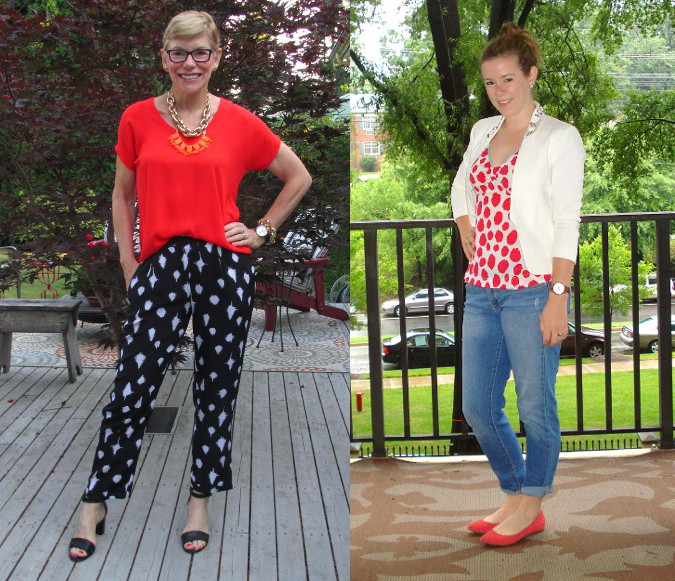 outfit post splotchy dots