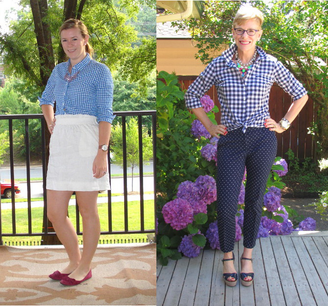 outfit post summer gingham